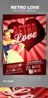 Retro Love Valentine's Day Flyer Template by ImperialFlyers