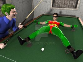 Joker's  billiard table game by opemam77
