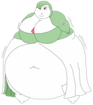 Fatty-poly Gardevoir by Dimensional-Expander