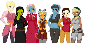 Ladies of the Clone Wars by TheApatheticKat