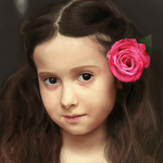 Girl with Rose by guoboism