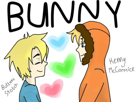 Butters and Kenny (bunny) by Amber-Shy