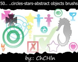 50 abstract objects by chchln