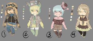 Adopts::Steampunk CLOSED by Pandastrophic