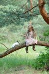 In the woods with a rabbit (3) by anastasiya-landa