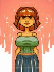 Girl in a green top. by scamble
