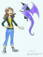 Kitty Pryde and Lockheed by goraina