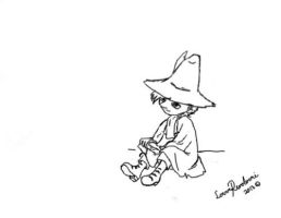 Snufkin (sketch) by LoverRevolveri