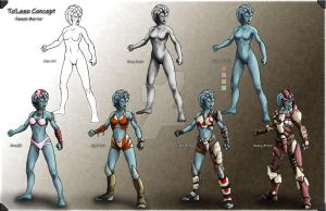 Femal Character concept by FeirceRaven