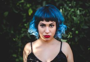 Black and  Icy Blue Ombre by candypow