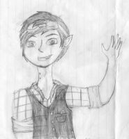 Sketch of Marshall Lee by sweetchick141