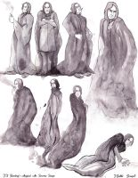Mr.Severus Snape the Wizard Sketches by Valhalrion