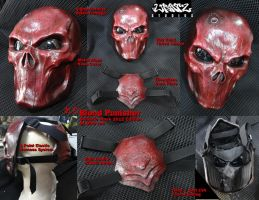 Blood Red Punisher Mask details by Uratz-Studios