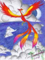Flaming Bird of the Heavens by Seventh-Archangel