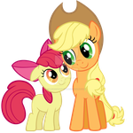 Apple Jack And Applebloom By Stabzor-d4gfuiz by laurenthepony