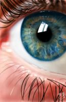 iPad finger painting of an eye by chaseroflight