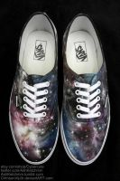 Galaxy Print Vans III by CrimsonVip3r