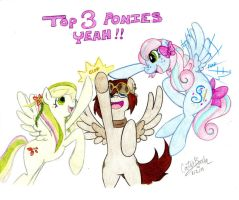 The Top 3 Ponies - WDC Contest by DordtChild