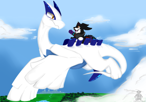 Lugia's Friend by Captain-Grizzly