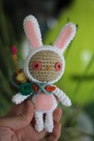 Cottontail Teemo from League of Legends Amigurumi by Npantz22