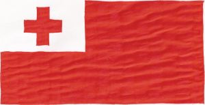 Hand-drawn flag of Tonga by cool1097