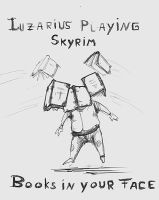 Luzarius and Books in Skyrim by p00se2