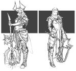 Barbarian and crusader female Diablo 3 by uger