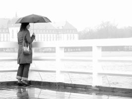 A girl on the rain 01 by elmisti