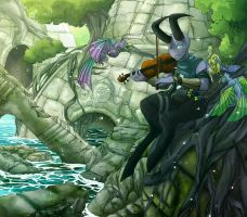 Violin Serenity ::Gift by Octeapi