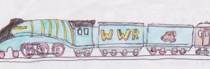 WWR B5 locomotive 'Peggy' and double tender by WhippetWild