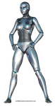 Free Stock:  Female Robot 3d render PNG by ArtReferenceSource