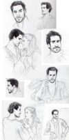 Shakespeare in Love Sketches by TalentedTiger