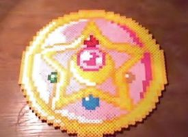 Large Sailor Moon - Moon Crystal Compact Perler by Perler-Pop