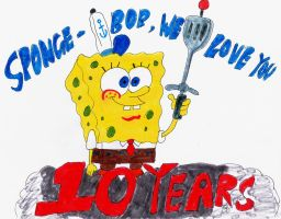 10 Years of Spongebob by MeganekkoPlymouth241