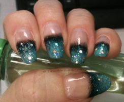 Mint and Black Gradient French by M-Everham