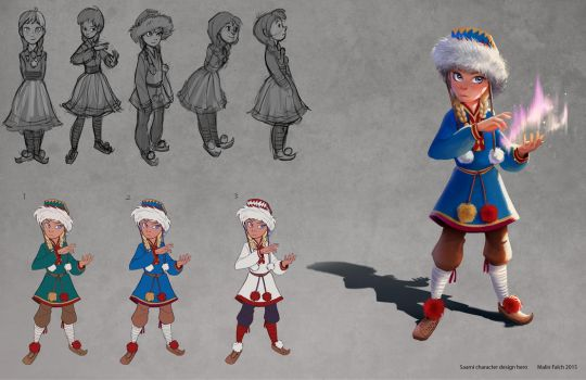 Saami character design: Lotta by Detkef