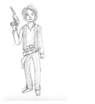 Me as Han Solo by NotFinished