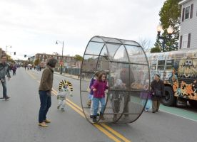 The Human Hamster Wheel Rolling Down the Street 8 by Miss-Tbones