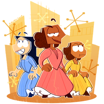 schuyler sisters by Forlorn-Soup