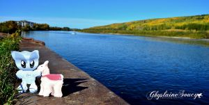 Athabasca River in AB Canada by gigi50