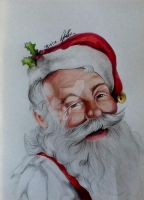Santa by Louise-Veale