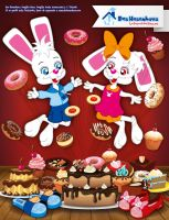 Hans and Greta - Cakes and Pastries by bunnyfriend