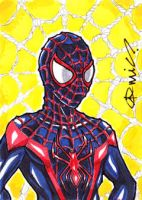 Ultimate Spider-Man Miles Morales ACEO by micQuestion