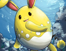 Azumarill - LNX Collaboration by nintendo-jr