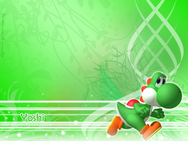 Yoshi Wallpaper by Chivi-chivik