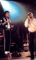 Stevie Wonder and MJ by brebre890