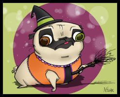 Halloween PUG by SnazzyDoodle