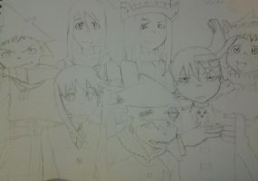 Group picture! The Soul Eater gang! by DtKfan1