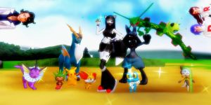 If Xilla was a Pokemon Trainer........ by Xiangqin5