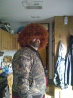 My Uncle Wearing My Dads Afro by KMKramer44